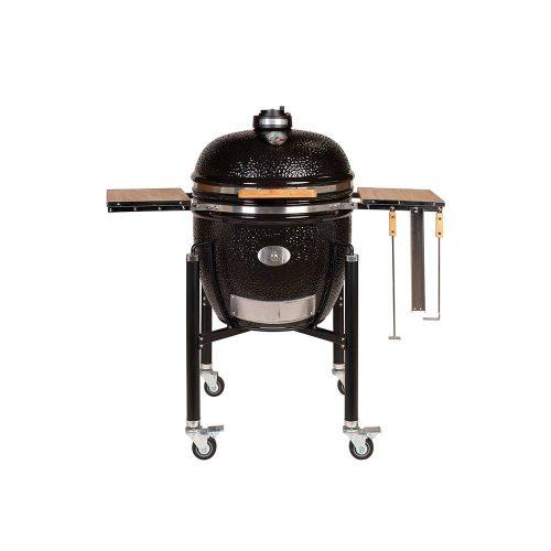 MONOLITH Le Chef grill – fekete + acélkocsi + oldalasztal