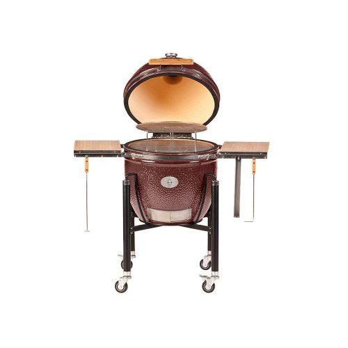 MONOLITH Le Chef grill – vörös + acélkocsi  + oldalasztal