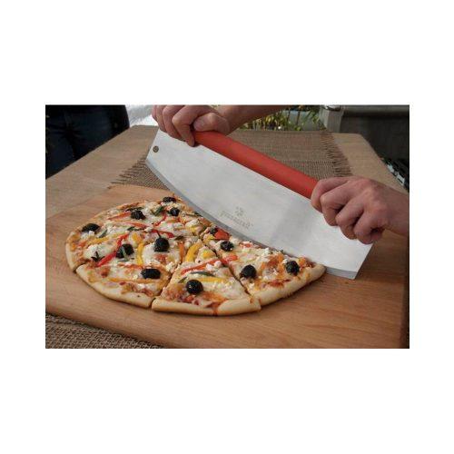 Pizza szeletelő, ívelt, TPR nyéllel