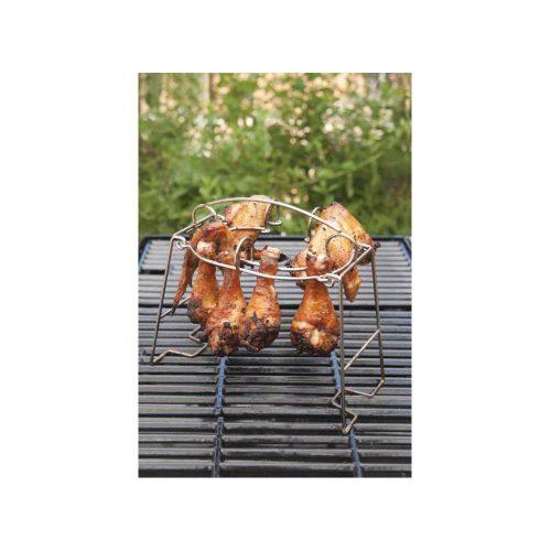 Rozsdamentes acél csirkecomb és -szárny grillező