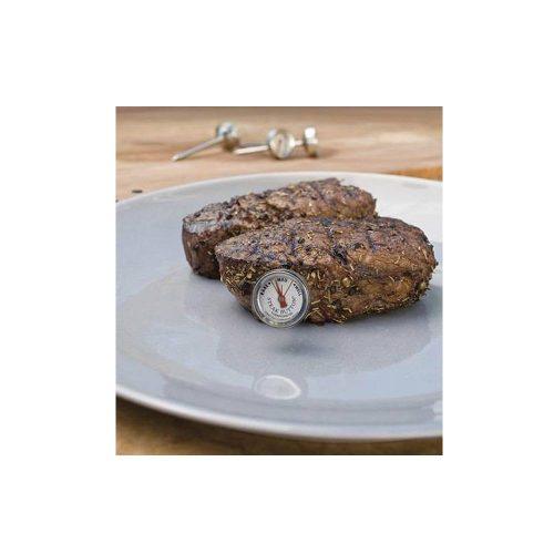 Újrafelhasználható sült hús gomb-hőmérő