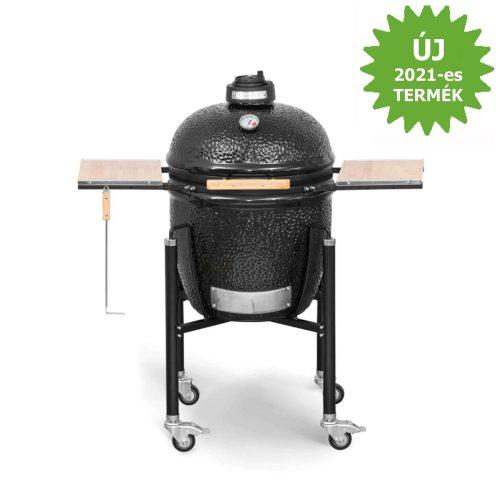 MONOLITH Basic grill ø 46 cm – fekete + acélkocsi + oldalasztal
