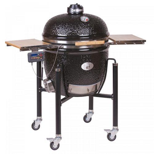 MONOLITH Classic grill – BBQ-Guru – Pro Serie + acélkocsi + oldalasztal